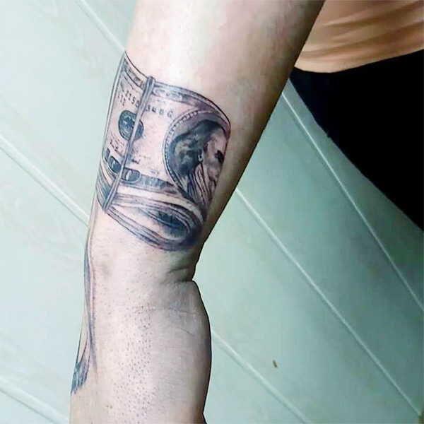 Доллар, деньги значение татуировки0