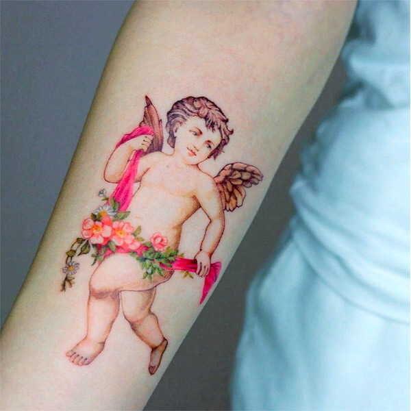 Купидон и Амур, значение татуировок0