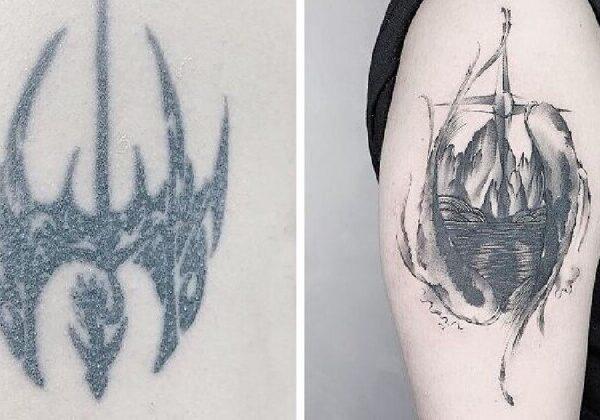 30 примеров удачного перекрытия старых татуировок
